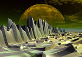 Mystic Alien Planet — Stock Photo