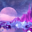 Stock Photo: Purple Moon