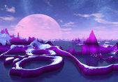 Purple Moon — Stock Photo