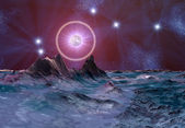 Mystic Alien Planet — Stock Photo