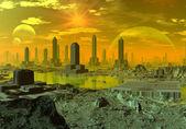 Alien Planet Ethernia — Stock Photo