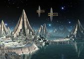 Alien Planet Hadara — Stock Photo