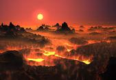 Vulkan landet — Stockfoto