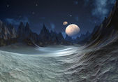 Alien Planet with Moons — Stock Photo