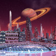 Foto de Stock  : Alien City