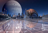 Futuristic Cityscape — Stock Photo