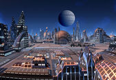 Futuristic Cityscape — Stock Photo