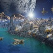 Alien Planet and City — Stockfoto #8852380