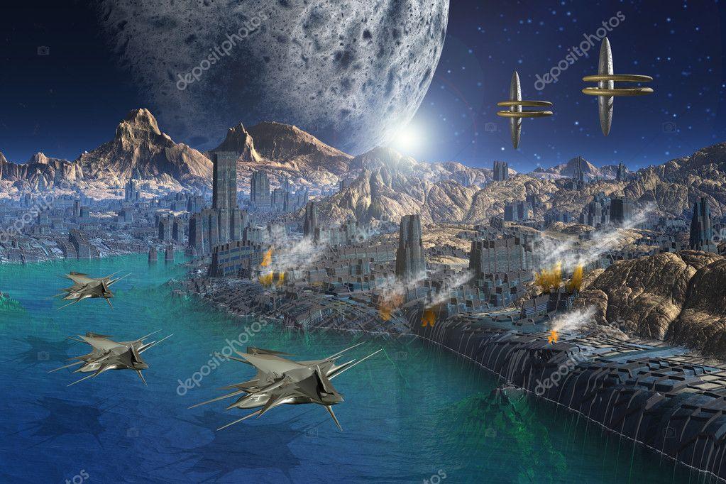 3d spatial science fiction blond slave 2