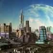Stock Photo: Modern City on Alien Planet