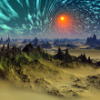 Stock Photo: Fantasy Alien Planet