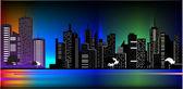 Ciudad de la noche — Vector de stock