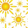 Seamless pattern with sun — Stock Vector