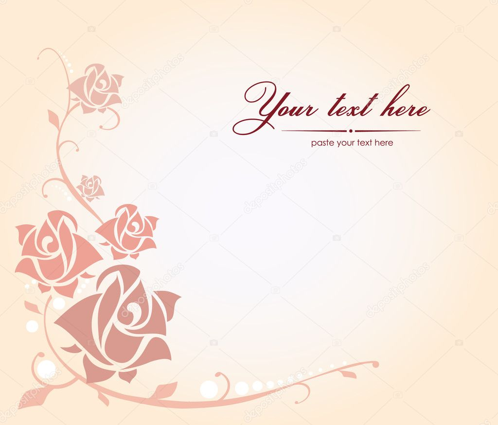 Background with rose — Stock Vector #8868707
