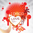Stock Vector: Disco love