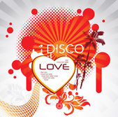 Disco love — Stock Vector