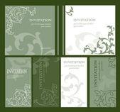 Cartes d'invitation — Vecteur