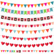 Bunting and garland set — Stock Vector #10037809