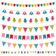 Bunting and garland set — Stock Vector #10238149