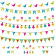 Bunting and garland set — Stock Vector #10617250