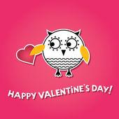 Valentine love card — Vector de stock