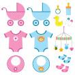 set di elementi del bambino — Vettoriale Stock
