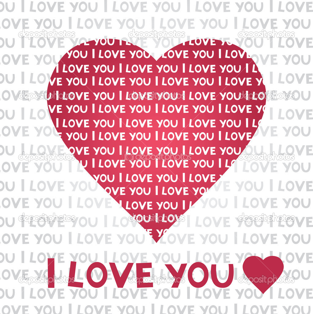 Love heart vector card — Stok Vektör #8197226