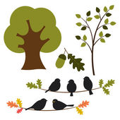 φορέα, δέντρο και φύση που — Διανυσματικό Αρχείο