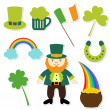 St. Patrick's Day elements set — Stock Vector