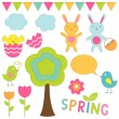 Vector elements spring set — Stock Vector #9410028