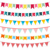 Vector bunting collection — Stockvector