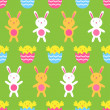 Seamless Easter vector pattern — Stock Vector