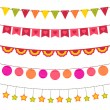 Vector bunting and garland set — Stock Vector #9622910