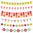 Bunting and garland set — Stock Vector #9746138