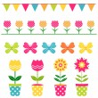 Stock Vector: Spring design elements set