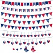 American flag themed bunting set — Stock Vector