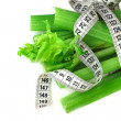 Stock Photo: Celery and measure tape