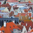 Panorama of old Tallinn roofs - Stock Photo