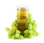 Grape juice with grapes — Stock Photo