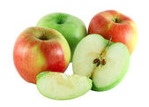 Cutted colorful apples — Stock Photo