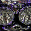 Stock Photo: Motorcycle headlight