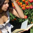 Reading young woman — Stock Photo #9936099