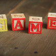 Game wood blocks - Stock Photo