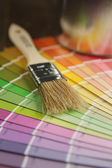 Brush and color guide — Stock Photo
