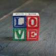 Love wood blocks — Stock Photo #9375141