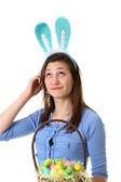 Teen with bunny ear — Stock Photo