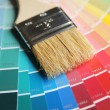 Brush on color swatches — Stock Photo