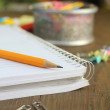 Pencil and notebook — Stock Photo #9410402