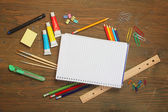 Material for school — Stock Photo