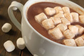 Hot chocolate and marshmallow — Stock Photo